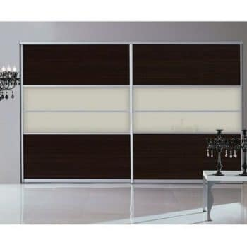 black white sliding door