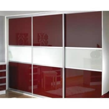 burgundy and white sliding doors