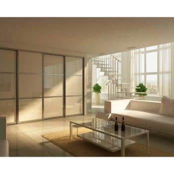 sliding doors beige