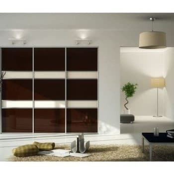 wenge three panel sliding doors