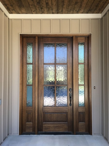 entry door with glass inserts