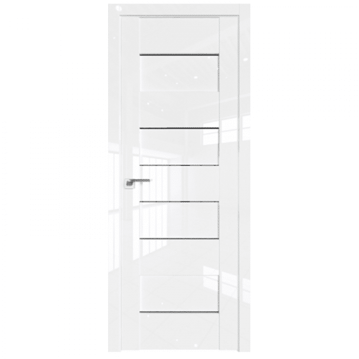45L White Luxe Black Triplex Glass Interior Door